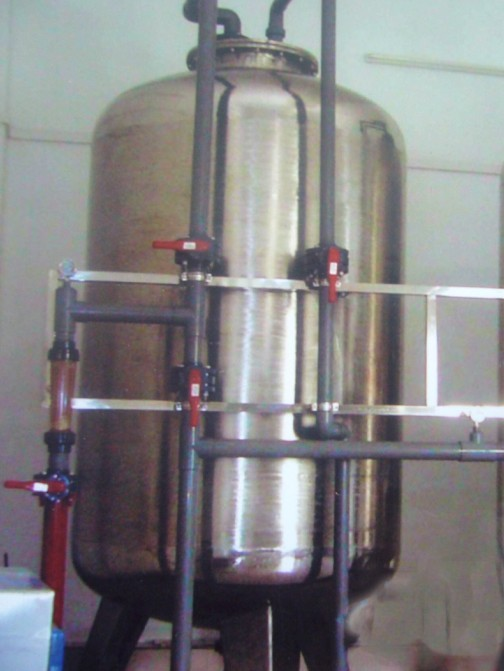 water softening system for boilers